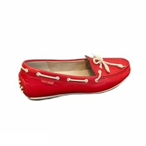 Cole Haan leather pearlized moc driving loafers